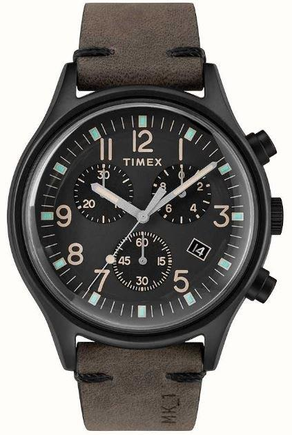 TIMEX- MK 1 BLACK STAINESS STEEL CHRONO 42MM  WATCH