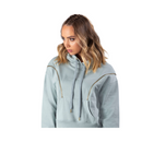 FIRST EVER Women's Double Zip Crop Hoodie