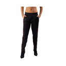 FIRST EVER Women's Black Racer Stripe Trackpant