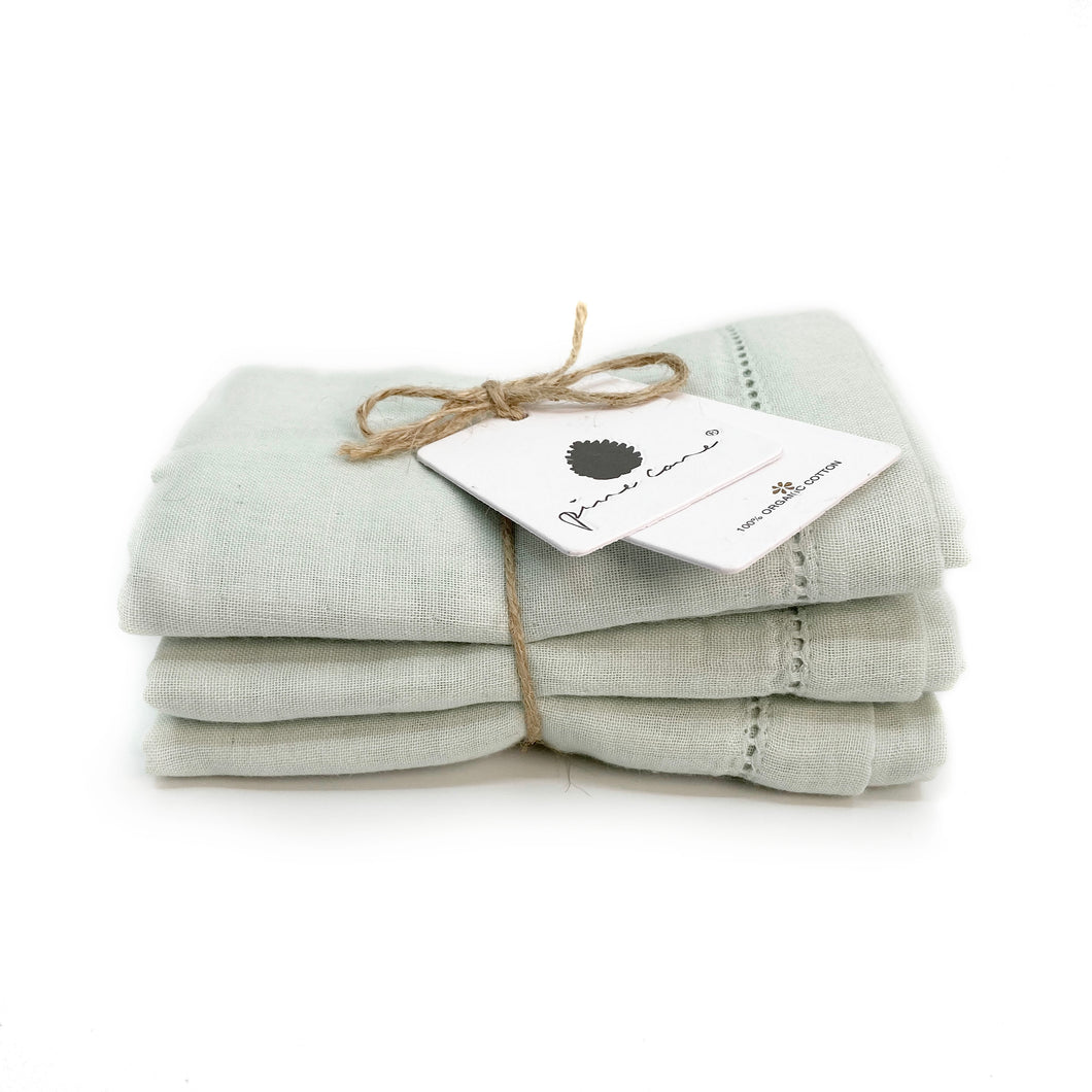 Lola Baby Cloth 3-pack - Organic Cotton - Mint