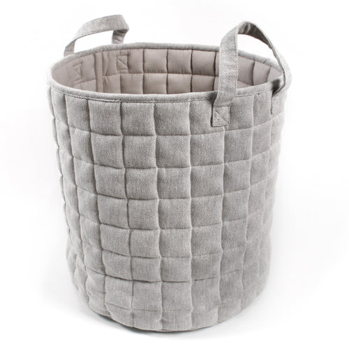 Millie Quiltet Basket - Light Grey