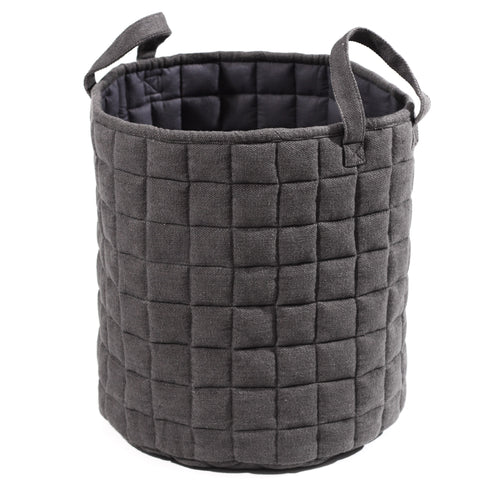 Millie Quiltet Basket - Dark Grey