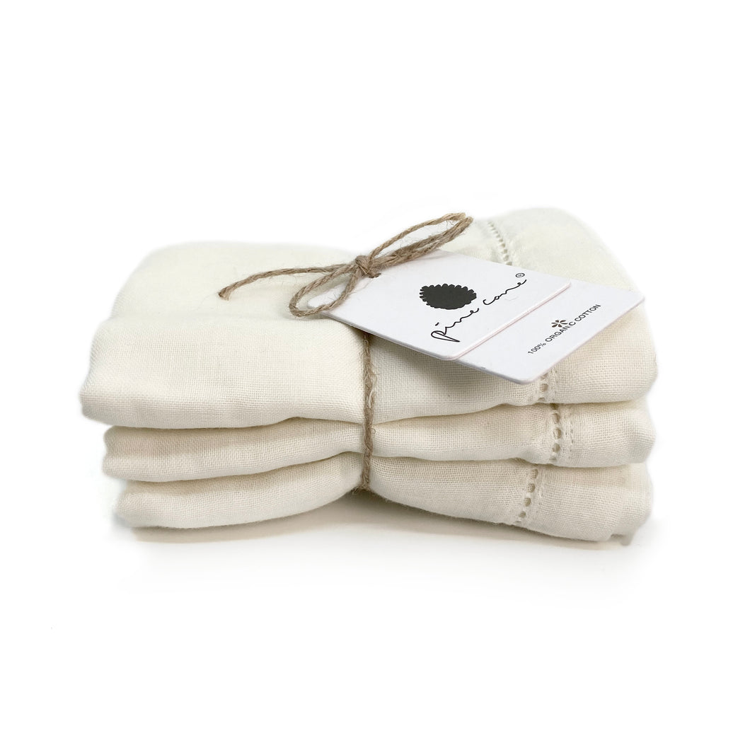 Lola Baby Cloth 3-pack - Organic Cotton - Salt