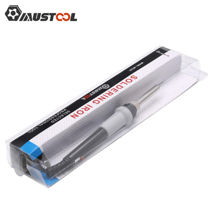 Mustool MT223 60W Adjustable Temperature Electric Solder Iron with 5pcs Solder Tips