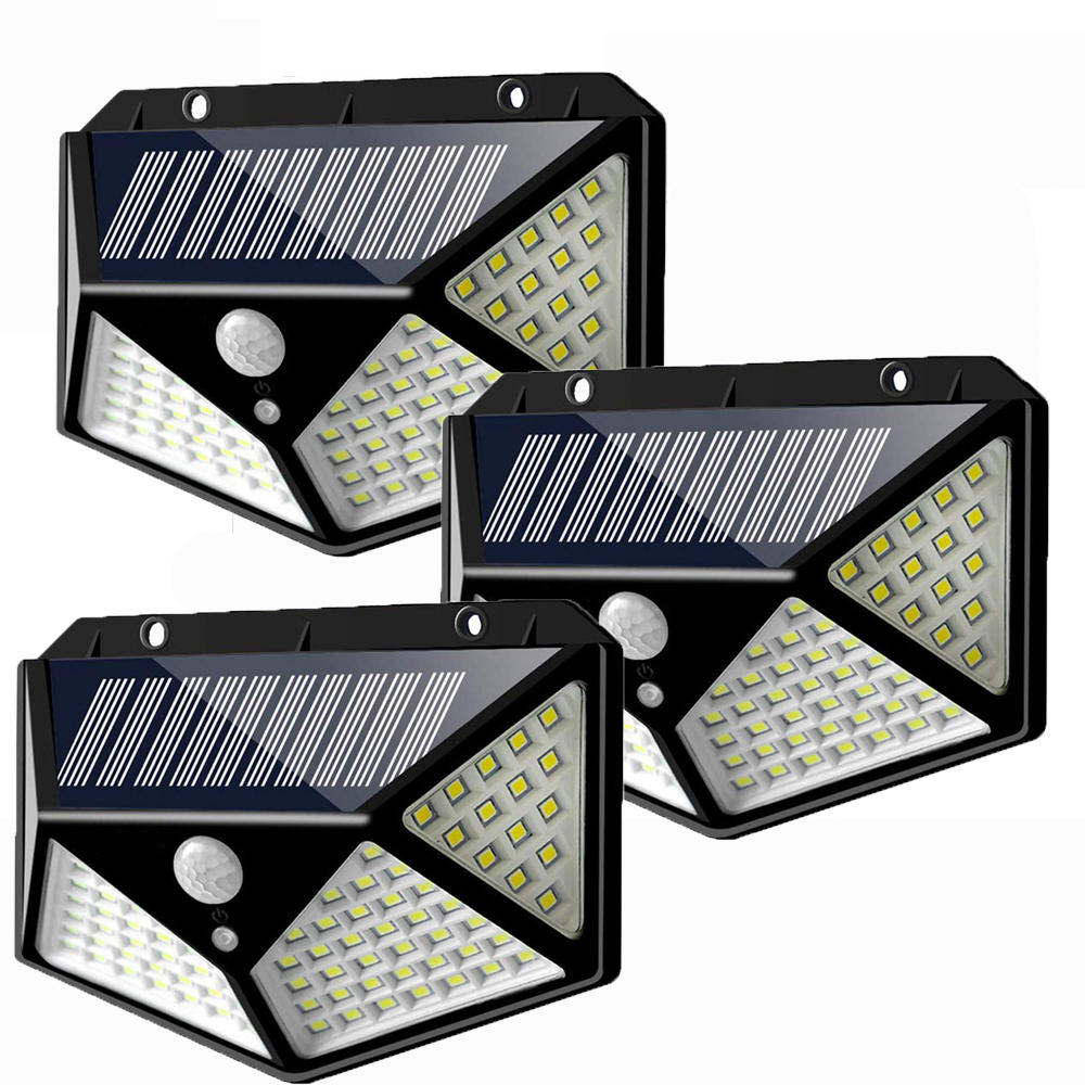 Ntegrity Connect™ 3-Pack 100 LED Solar Motion Sensor Outdoor Garden Wall Light