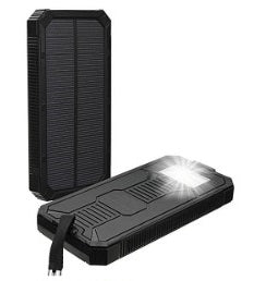 Ntegrity Connect™ Solar Phone Charger Waterproof Dual USB with Built-in Flashlight