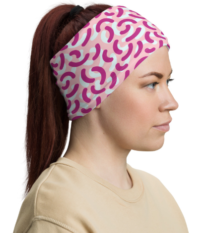 Neck Gaiter Face Covering Pink