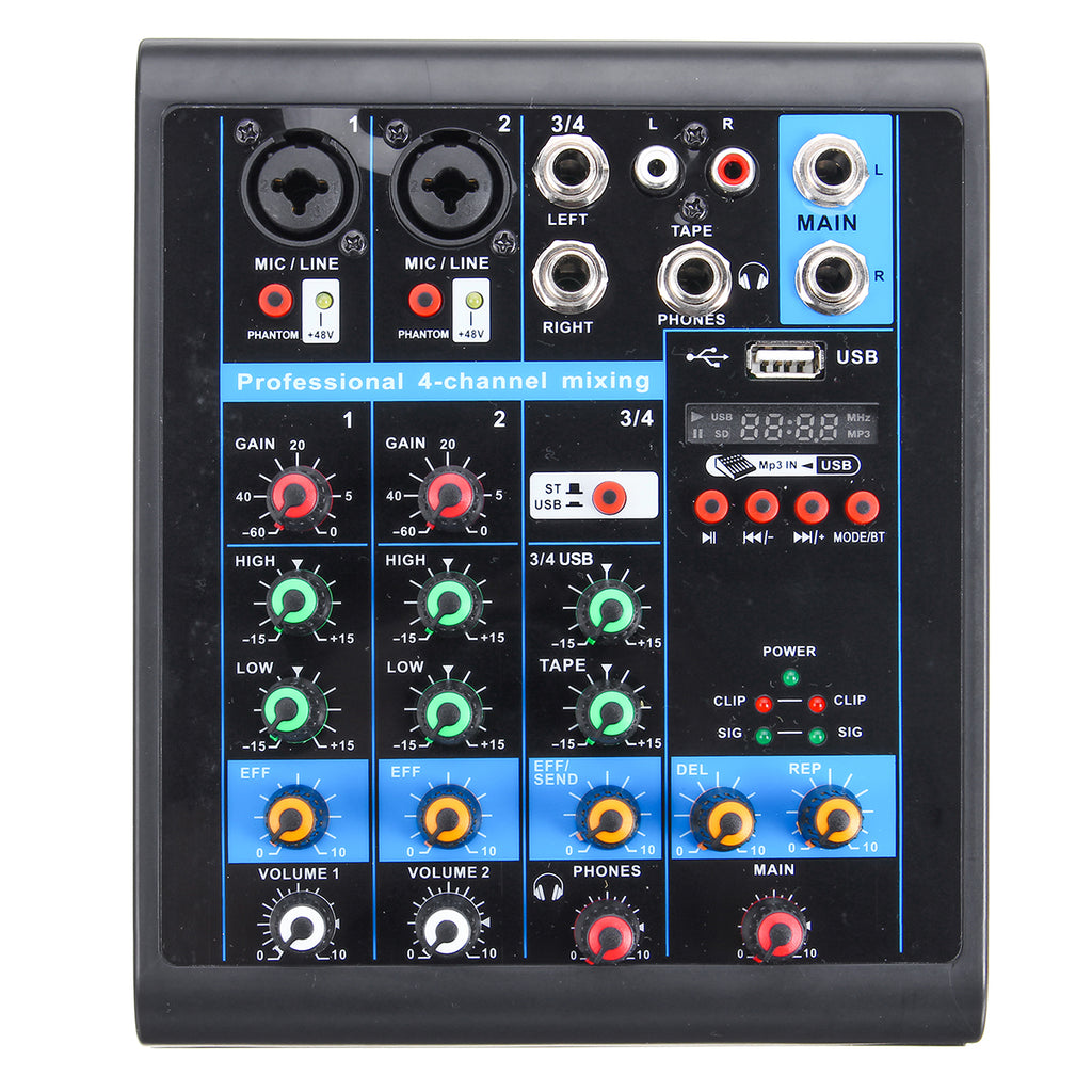 Ntegrity Connect™ USB Audio Mixer Professional 4 Channel Bluetooth Mixer