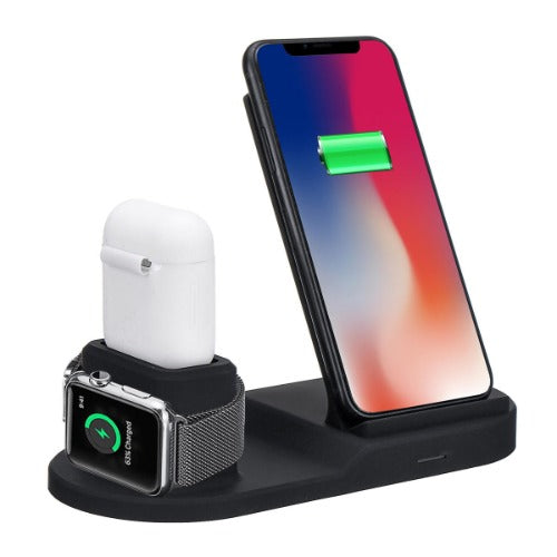 Ntegrity Connect™ Wireless Charger for Qi Enabled Devices 3 in 1 Charging Station