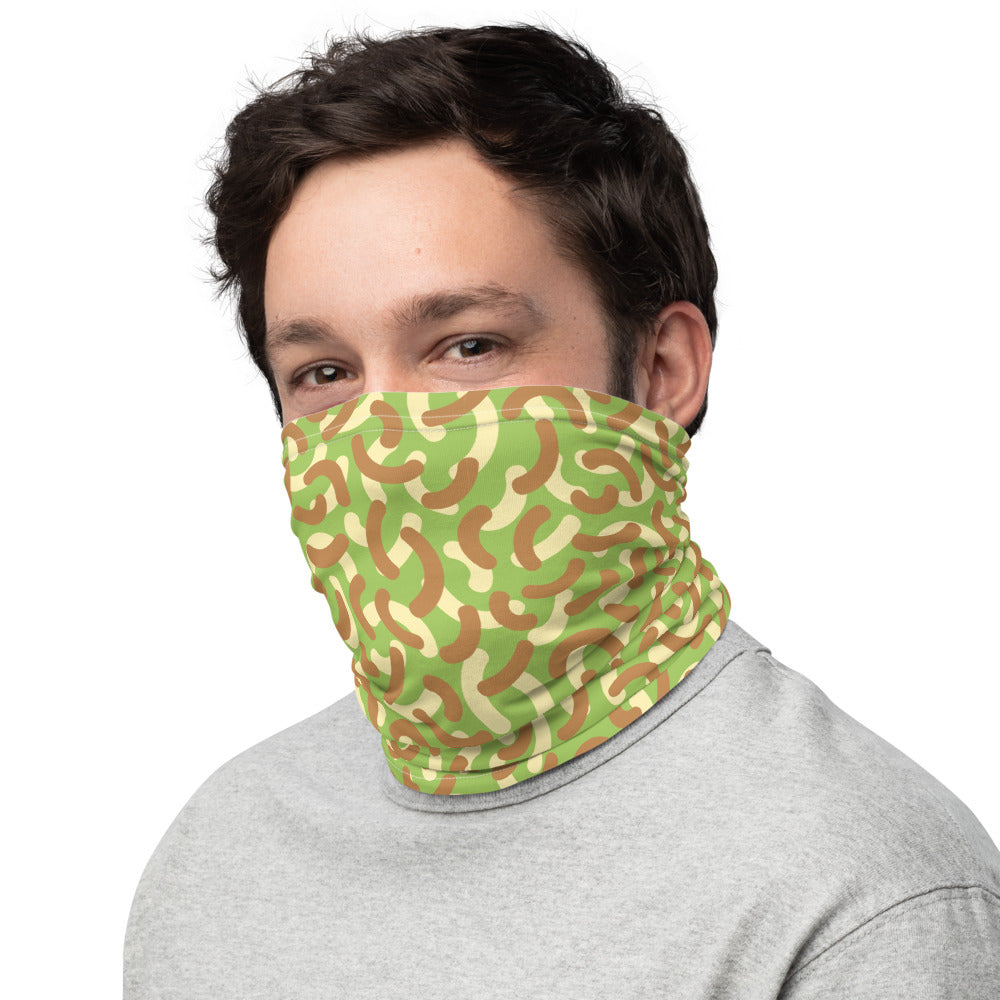 Neck Gaiter Face Covering Green