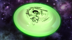 Marco Minnemann - Signature Series Glow-In-The-Dark Autographed Flying Saucer