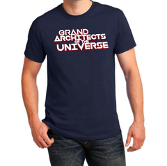 GRAND ARCHITECTS OF THE UNIVERSE (2-Sided Print on Navy)