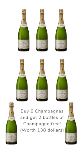 Get 2 bottles of champagne with 6 bottles bottles of champagne