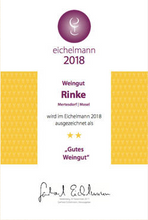 Load image into Gallery viewer, Weingut Rinke rated Gutes Wein by Eichelmann in 2018