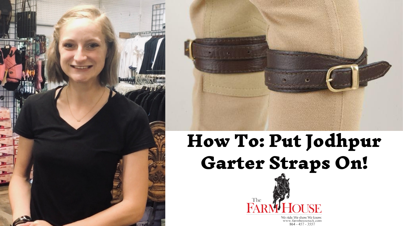 How to put on garter straps