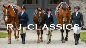 Kids in show clothes leading their horses
