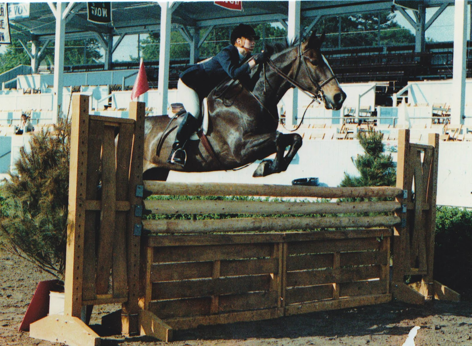 Lisa Clements at Devon Horse Show