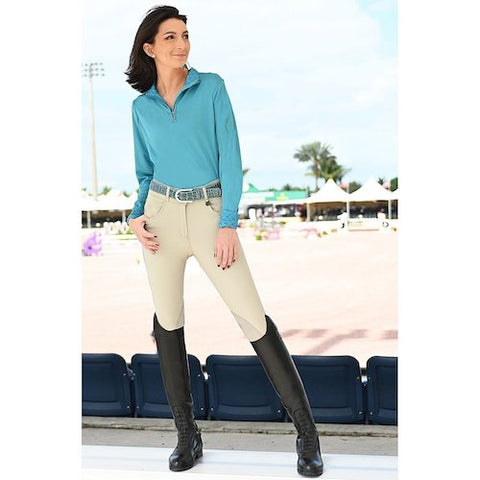 Ovation Aqua-X Ladies Silicone Knee Patch Breeches