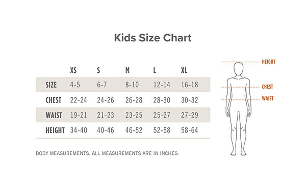 Ariat Kids / Youth Breeches Size Chart