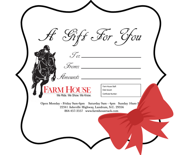 Farm House Gift Certificate