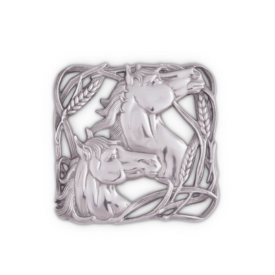 Arthur Court Equestrian Trivet - Horse with Wheat