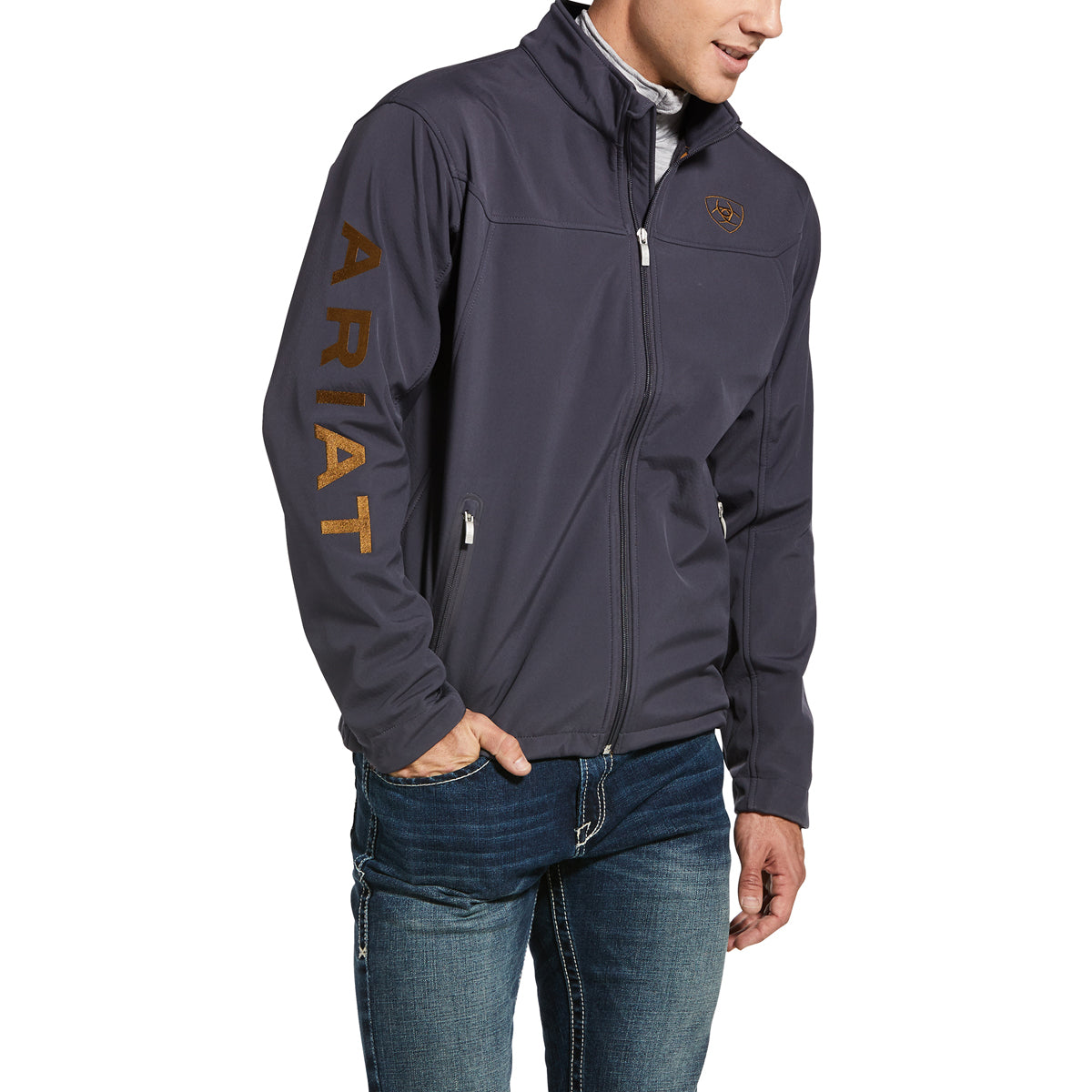 Ariat Men's New Team Softshell Water Resistant Jacket