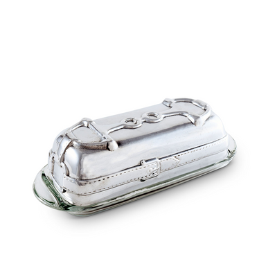 Arthur Court Equestrian Covered Butter Dish - Snaffle Bit