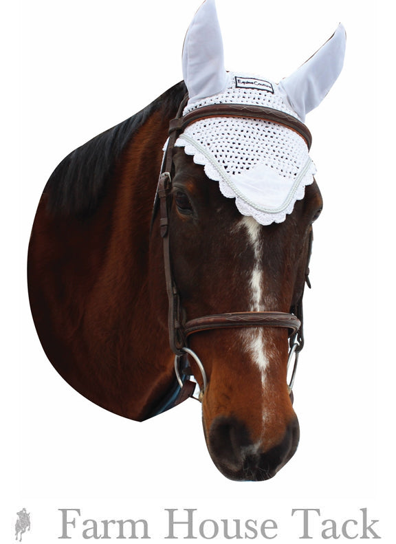Equine Couture Fly Bonnet with Silver Lurex /& Contrast Color