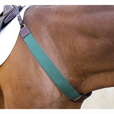 Nunn Finer German Elastic Reversible Hunter & Navy Breastplate