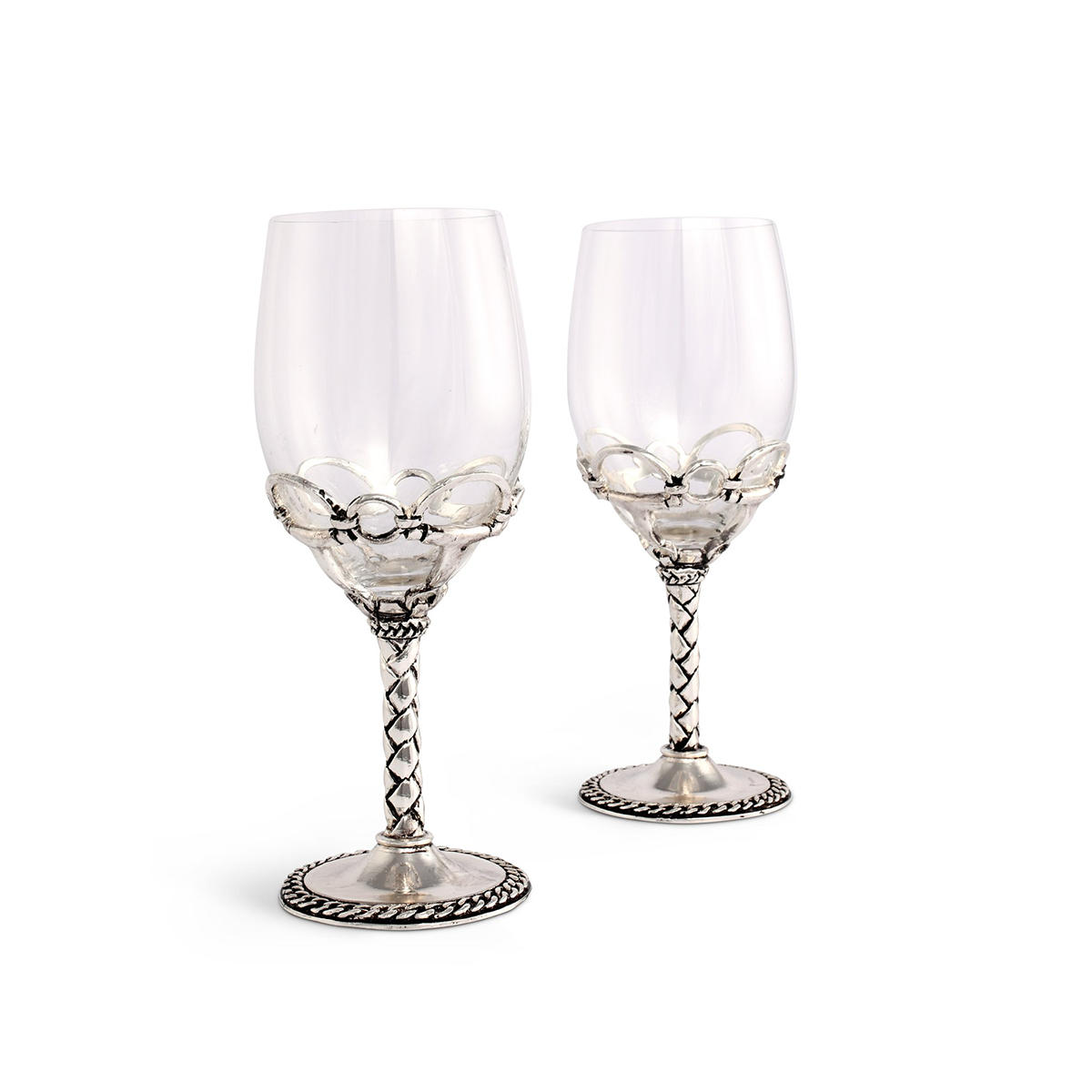 Arthur Court Equestrian Pair of Wine Glasses