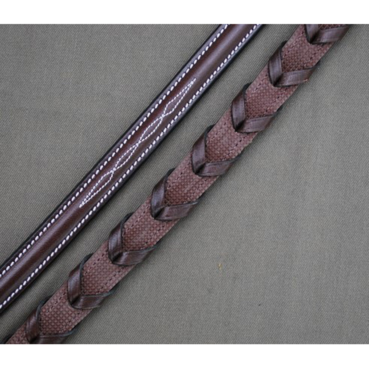 Red Barn by KL Select Stealth Laced Reins