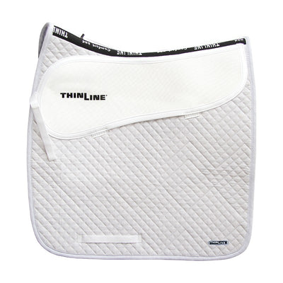 ThinLine Cotton Quilted Square Dressage Saddle Pad