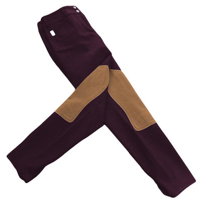 Tailored Sportsman Low Rise Front Zip Vintage Knee Patch Breeches