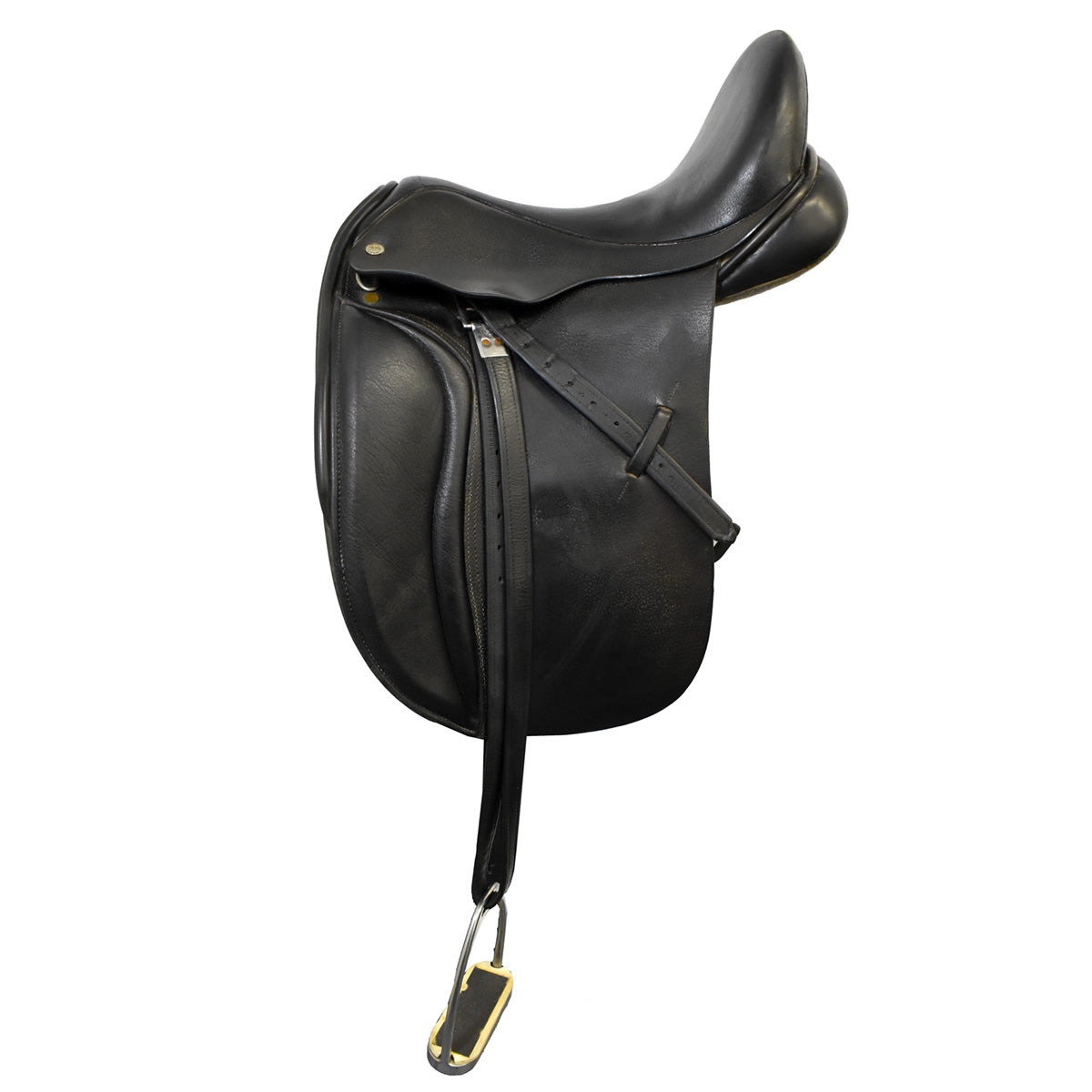 "Black Country Eloquence 16.5"" Used Dressage Saddle"