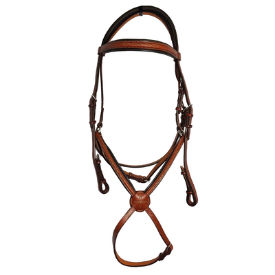 "Edgewood 5/8"" Padded Fancy Figure 8 Bridle w/ Padded Browband and Crownpiece"