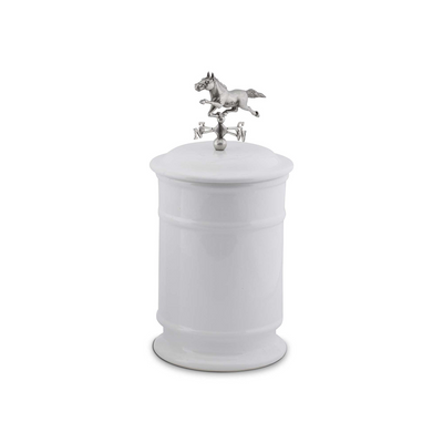 Arthur Court Equestrian Horse Weather Vane Canister - Tall