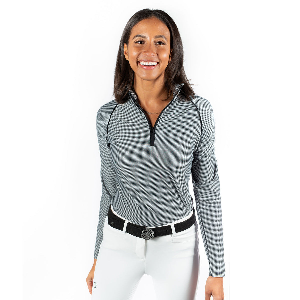 Hannah Childs Grace Long Sleeve Zip Top