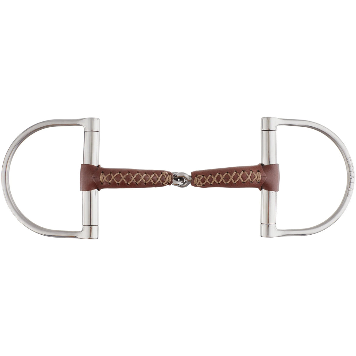 Metalab Leather Pinchless Big Dee Snaffle Bit
