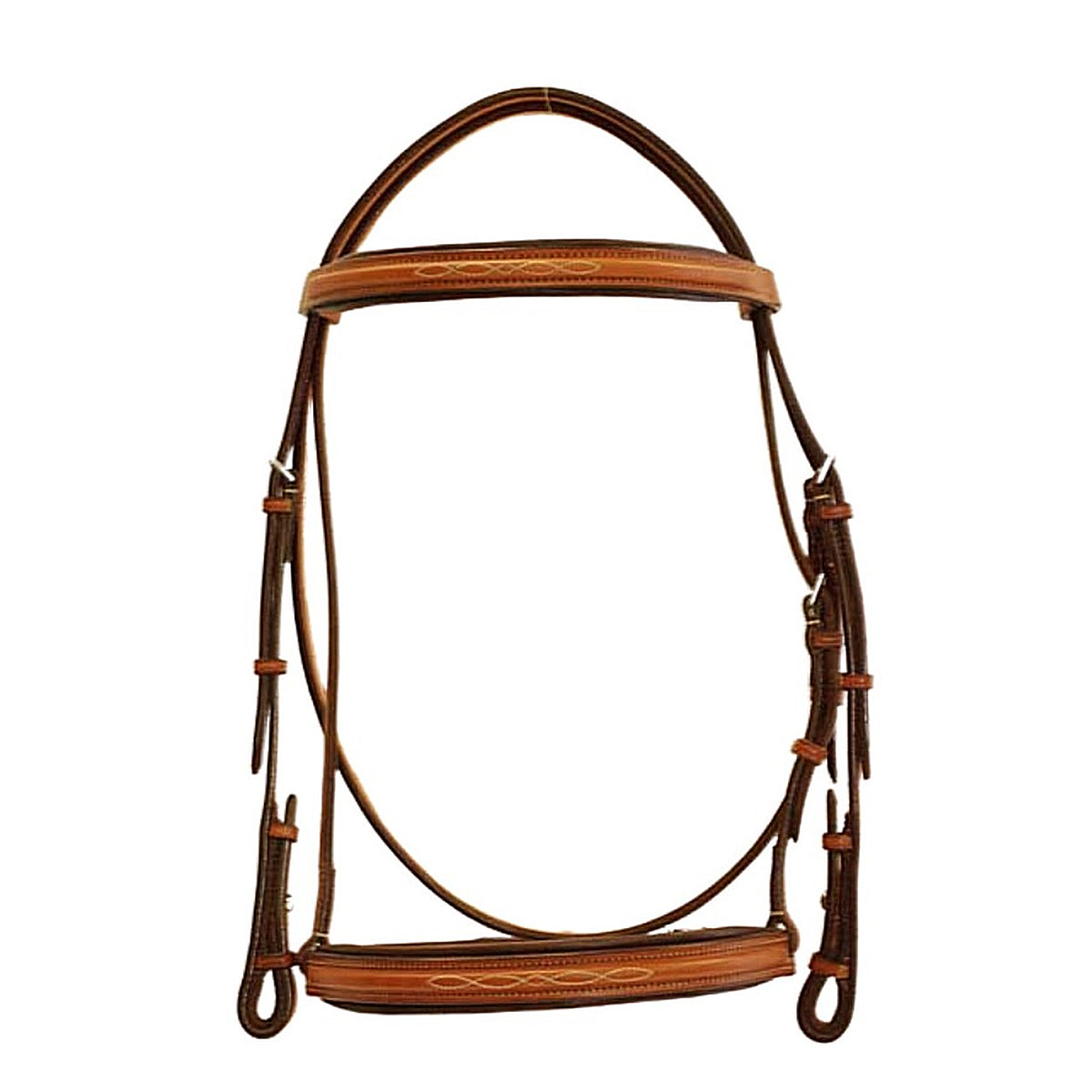 "Edgewood 3/4"" Fancy Stitched Padded Bridle"