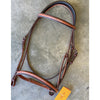 "Edgewood 3/4"" Fancy Raised Padded Bridle with Padded Crown"