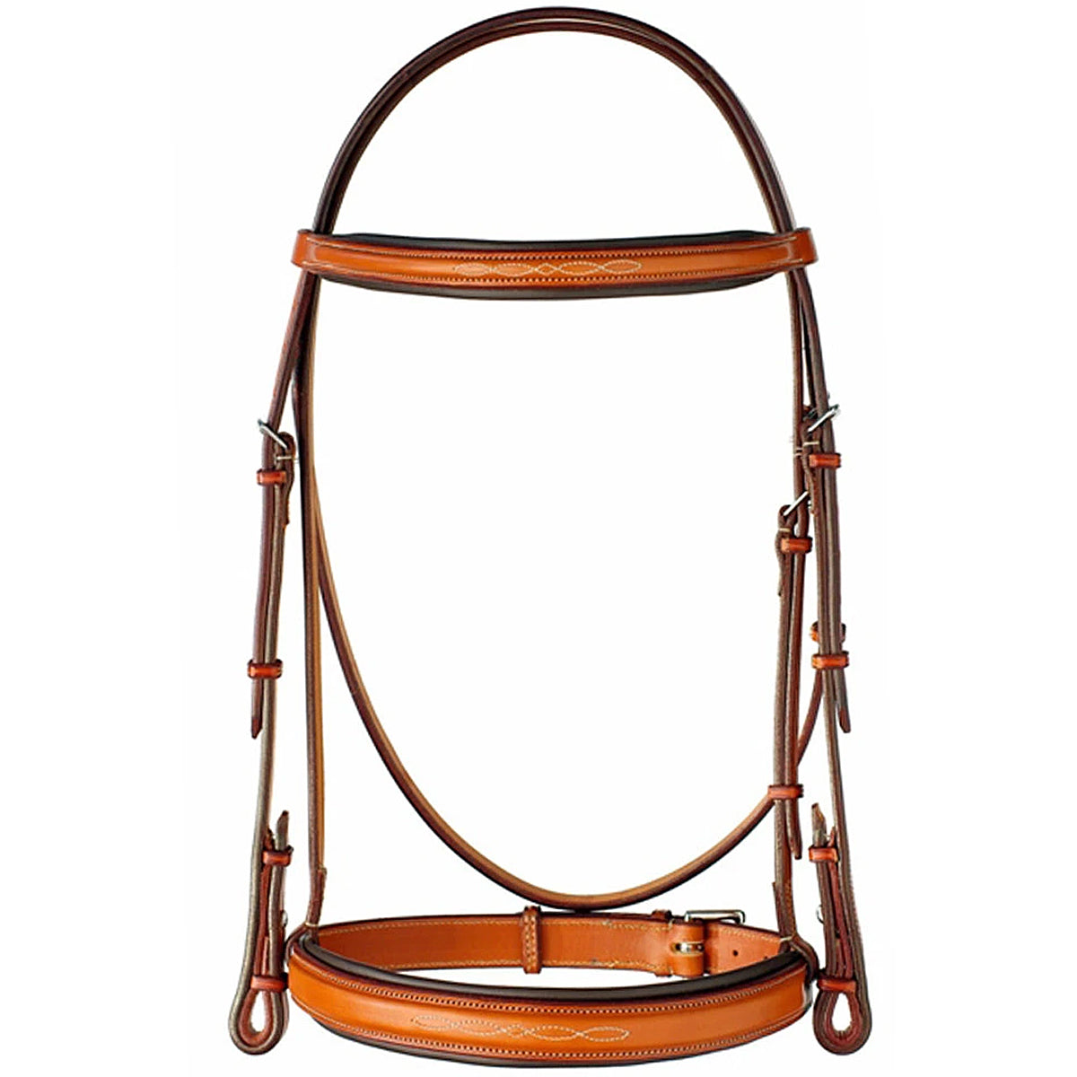 "Edgewood 1"" Fancy Raised Padded Bridle with Padded Crown"