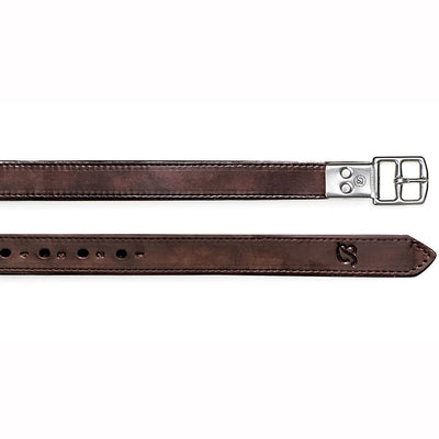 Heritage English Leather Stirrup Leathers In 3 Sizes Black Havana Brown