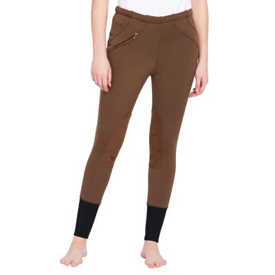 Tuffrider Ladies Unifleece Pull On Knee Patch Breeches
