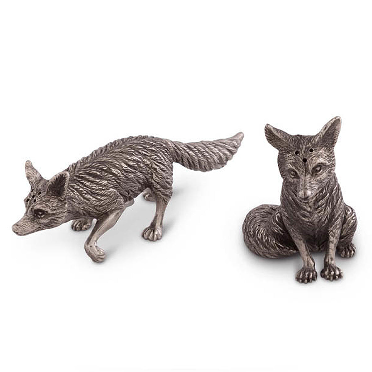 Arthur Court Equestrian Salt & Pepper Set-Fox