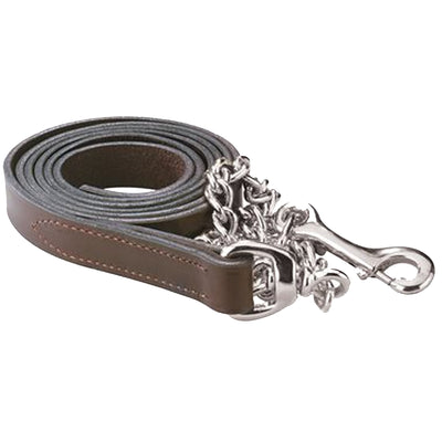 "Perri's 1"" Leather Lead with Chain"