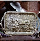 Beatriz Ball  Tray with Saddle Stitch Belt Handles-Horse