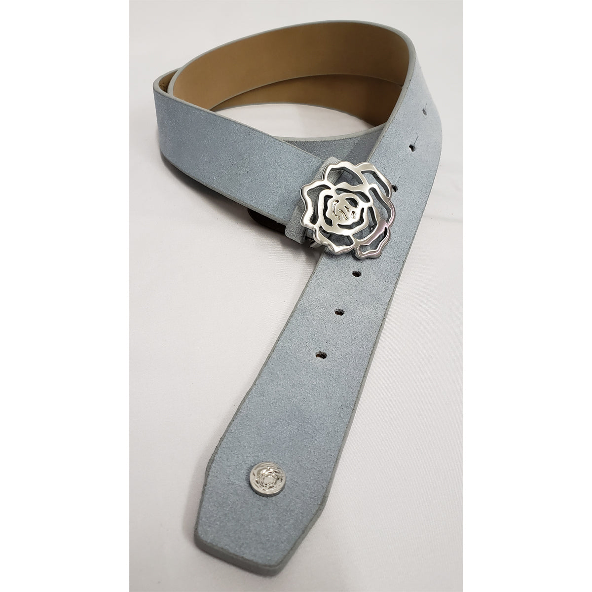 Hannah Childs Suede Sig Rose Belt