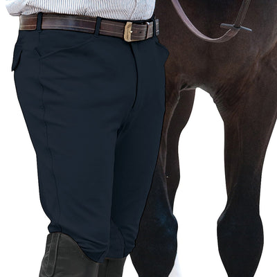 Ovation® EuroWeave™ Men's Front Zip 4-Pocket Knee Patch Breeches