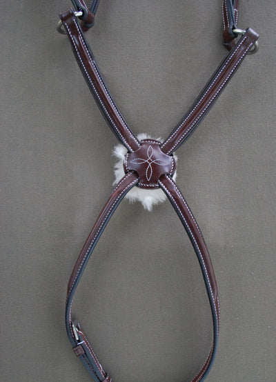 KL Select Red Barn Equinox Square Raised Figure 8 Bridle