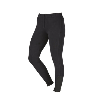 Saxon Ladies Knee Patch Pull On Schooling Breeches